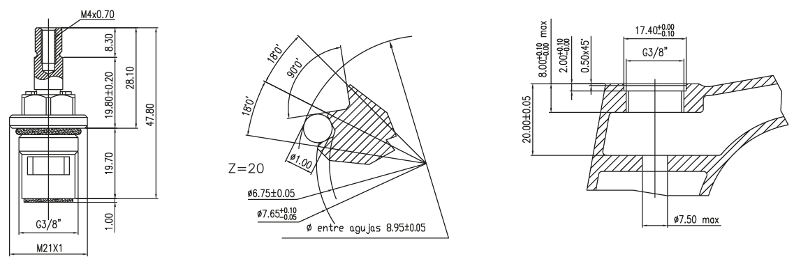 "CITEC ceramic headworks - brass 3/8"""